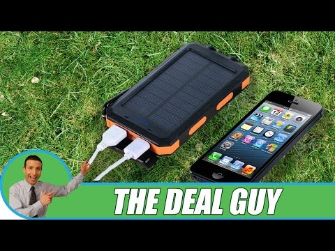 🔋 Solar Powered Phone Charger For Android, iPhone 7 ◄ DROP TEST