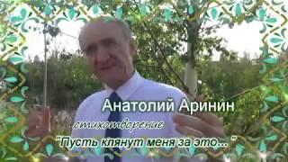 """Стихотворение """"Пусть клянут меня за это..."""" - Анатолий Аринин"""