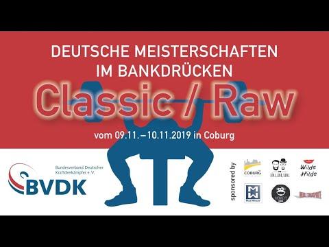 Deutsche Meisterschaft im Bankdrücken RAW Tag 2