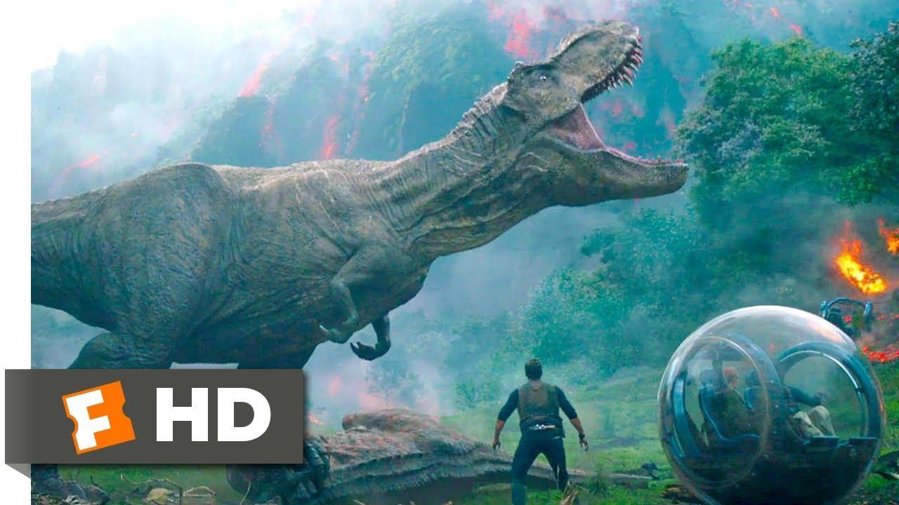 Download Jurassic World: Fallen Kingdom (2018) - Saved by Rexy Scene (4/10) | Movieclips