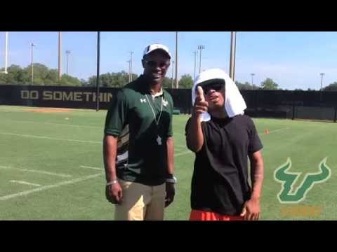Plies With USF Football Head Coach Willie Taggart