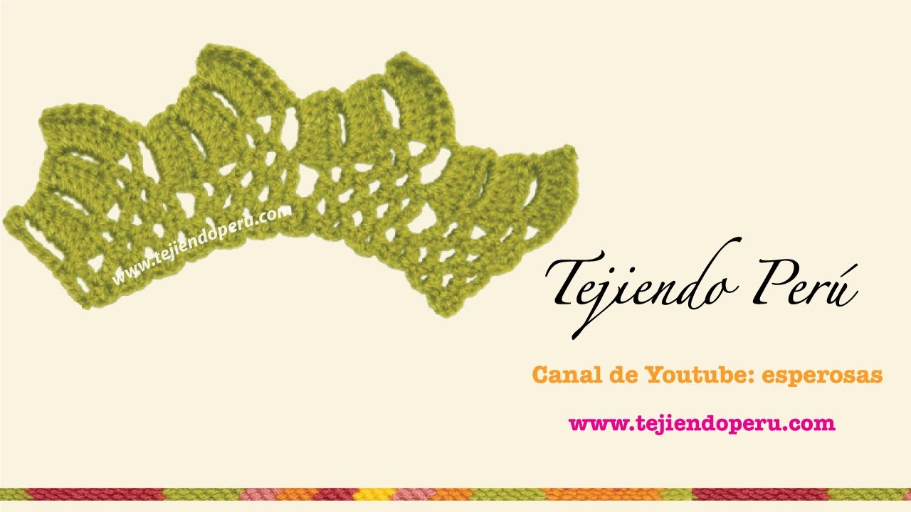 Cenefa para aplicar tejida en crochet 4 youtube - Cenefas para pared ...
