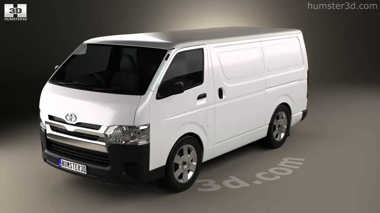 Toyota Hiace Lwb Panel Van 2013 3d Model By Humster3d Com