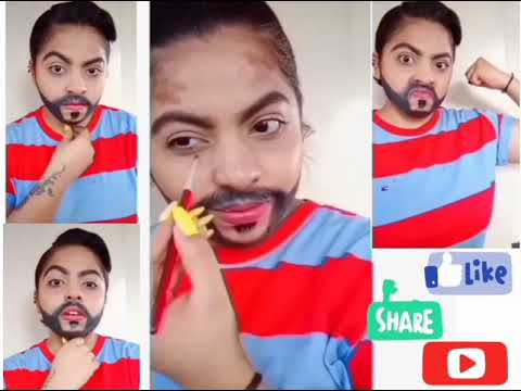 How To Get Boys Type Look/Opposite Gender Look /girl To Boy Transformation /how To Make 🧒 Typebeard