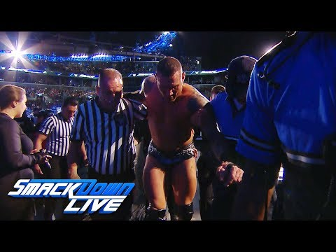 Randy Orton is helped to the back after Jeff Hardy's attack: SmackDown Exclusive, Aug. 21, 2018