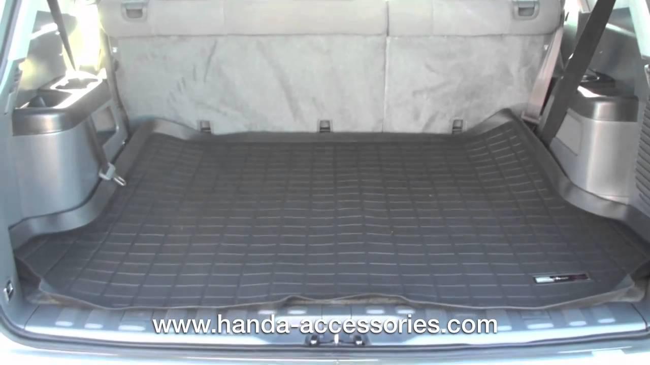 Weathertech floor mats honda odyssey 2016 - 2005 2009 Honda Pilot Weathertech Cargo Mat Installation