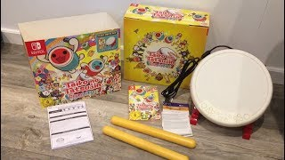 Taiko no Tetsujin Unboxing Europe Release Nintendo Switch Drum Controller