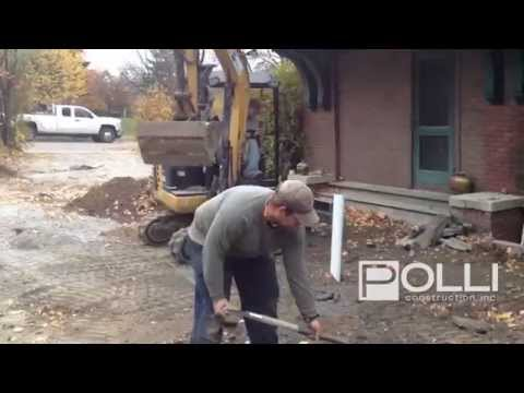 Digging a Trench For Utility Lines | Burlington, Vermont
