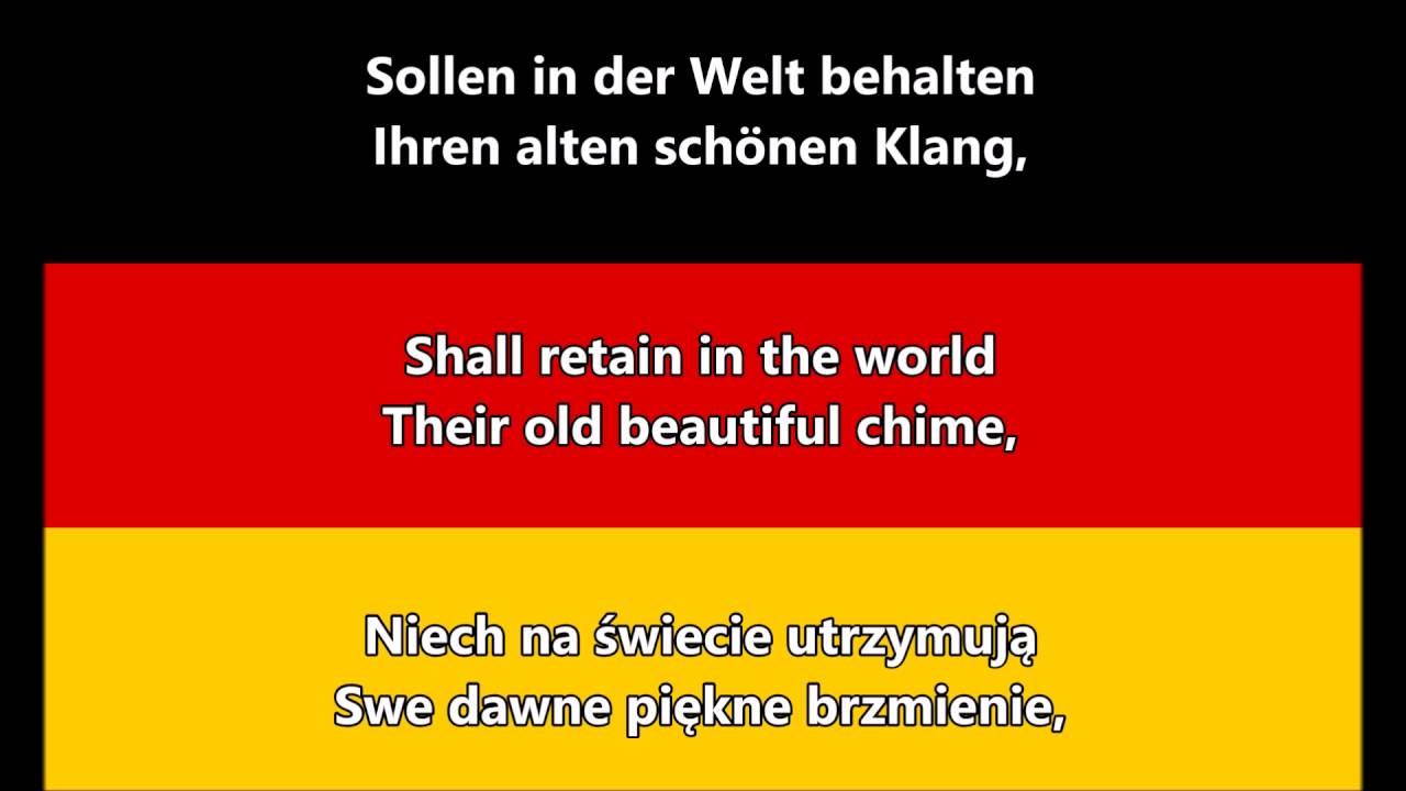 National Anthem Of Germany (DE/EN/PL Lyrics