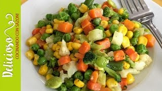 ¡Ricas Verduras Con Mantequilla Preparadas En Minutos! / Buttered Vegetables Prepared In Minutes!