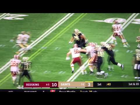 Mark Ingram Hilarious Dance TD celebration: Saints vs Redskins Week 11