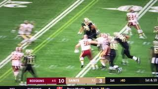 Mark Ingram Hilarious Dance TD celebration: Saints vs Redskins Week 11