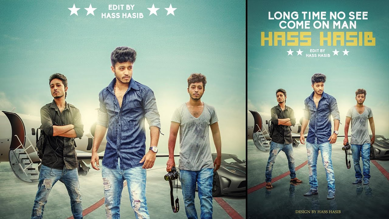 Poster design jeans - Photoshop Manipulation Movie Poster Design Hass Hasib Effects Part 2 Youtube