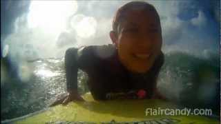 AEE Magicam Test Surfing Urban Surfer Girls - La Union