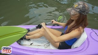 If you've spent several hours in a kayak before, you know that the seat can be...uncomfortable.so, rated red's amanda mertz shows remove old, junky ...
