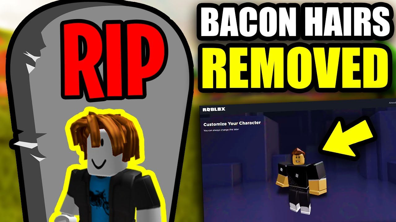 This Bacon Hair Has Been On Roblox Since 2010 But Never Bought Roblox Has Removed Bacon Hairs Rip Bacon Hairs Youtube