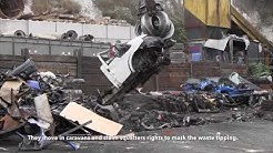Crushing of vehicle linked to waste gangs