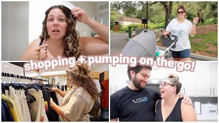 shopping at the mall, weird postpartum changes, + pumping on the go!