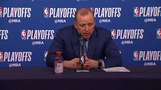 Tom Thibodeau Postgame Interview | Rockets vs Timberwolves - Game 3 | April 21 | 2018 NBA Playoffs