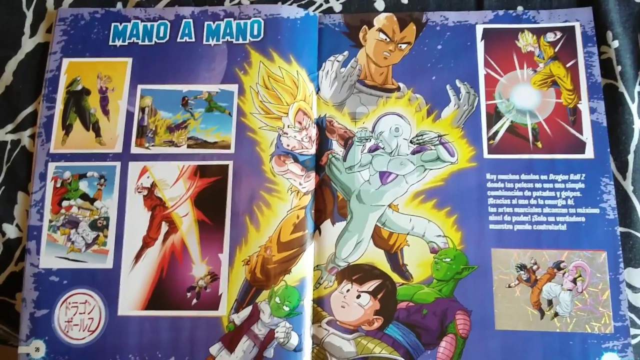 Álbum Dragon Ball Z universe completo Panini 2017 - YouTube
