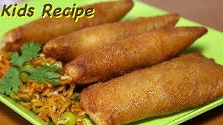 Maggi Masala Cheese Pockets | Kids Lunch Box Recipes | Kanak's Kitchen