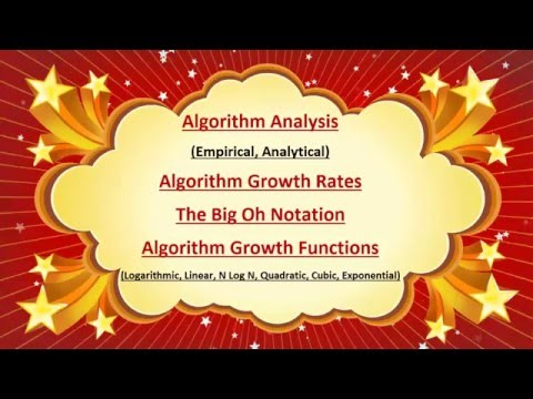 Algorithm Analysis in Data Structure by Computer Education part 1