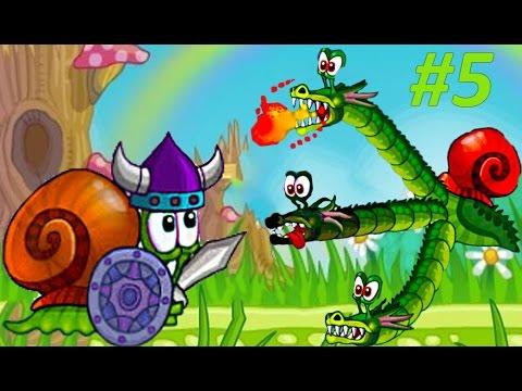 Детская игра про улитку Snail Bob 2 – ДРАКОН НАПАЛ НА УЛИТКУ БОБА. Мультик игра для малышей Часть #5