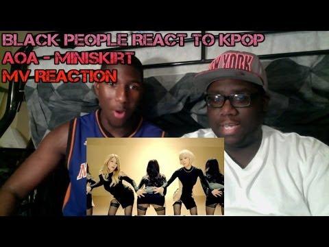 Black People React to Kpop - AOA - Miniskirt MV Reaction