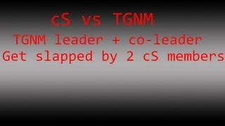 Black Ops 2:  TGNM leader gets slapped