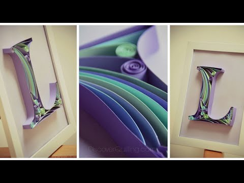 DIY Wall Decor   Paper Quilling Art for Bedroom   Letter F Paper quilling.