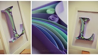 DIY Wall Decor | Paper Quilling Art for Bedroom | Letter F Paper quilling | Gift Idea  February 2017