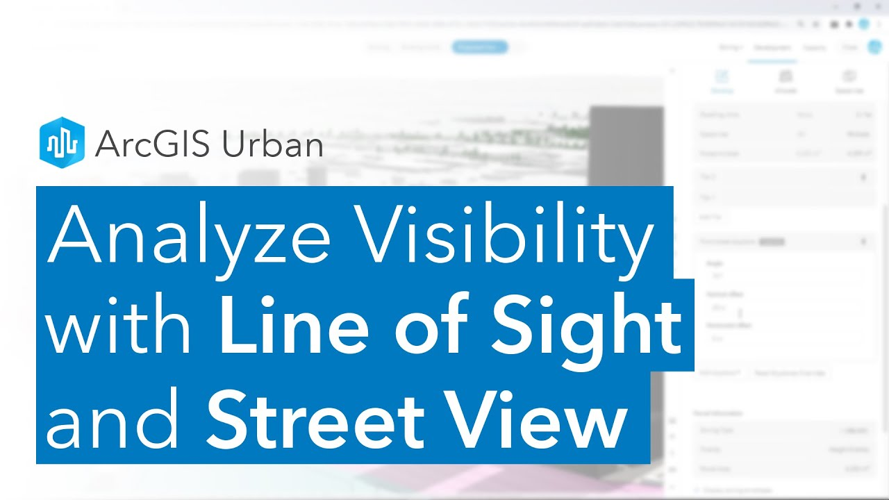 Analyze Visibility Analysis with Line of Sight and Streetview
