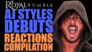 Royal Rumble 2016 | AJ Styles Debut Reactions Compilation
