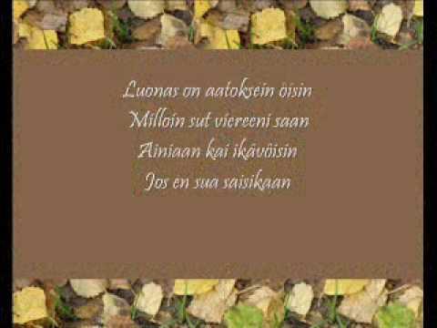 Finlanders: Sinulle vain +Lyrics