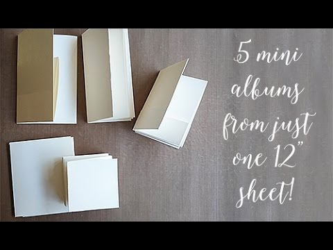 """5 Mini Albums from one 12"""" paper!"""