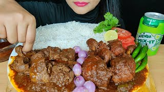 ASMR:EATING *CHICKEN LIVER* & GIZZARD CURRY, SPICY CHICKEN CURRY WITH RICE *CHICKEN LEG PIECE*