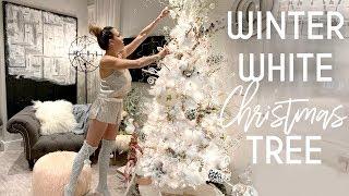 Christmas Decor Office Tour   Winter White & Gold Tree