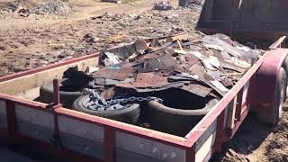 Easily remove junk roofing shingles from your trailer.