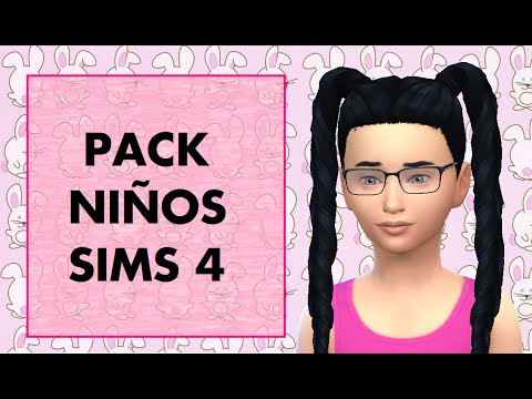 sims 4   pack ropa, peinados y objetos para niÑos / descargar