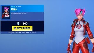 *NEW* MIKA SKINS Fortnite ITEM Shop UPDATE JULY 23 (Fortnite Item Shop Live)