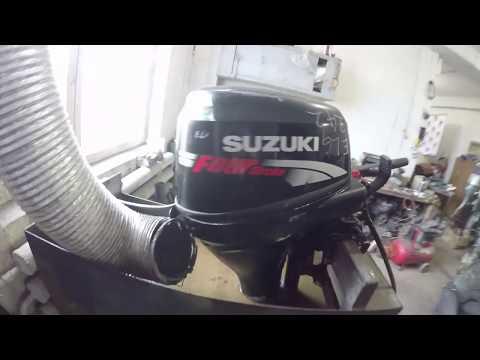 Тест лодочного мотора Suzuki 25 Vtvin запуск Сузуки 25 4такта замер компрессии лодочного мотора бу
