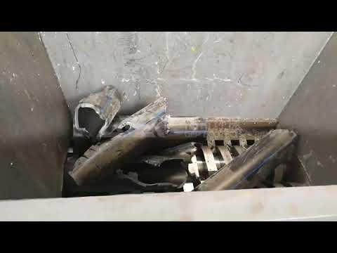 Double Shaft Shearing Type Shredder For Hdpe Plastic