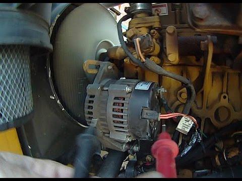 Vermeer SC60TX stump grinder alternator harness fault and repair - YouTubeYouTube