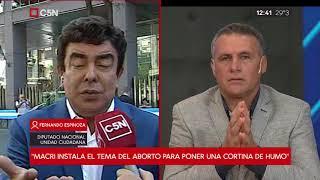 Fernando Espinoza  sobre el discurso de Macri en el Congreso...
