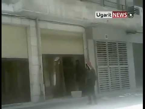 Hama, Syria. Looting by Syrian soldiers in response to strike for dignity 12/12/2011