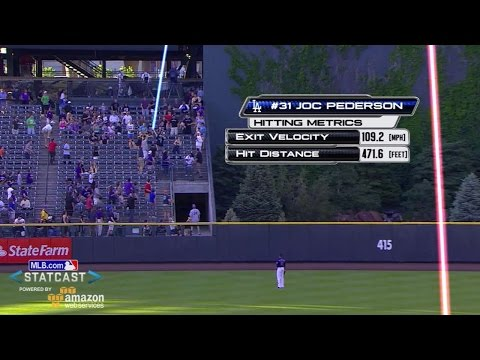 LAD@COL: Pederson travels 472 feet in Coors Field