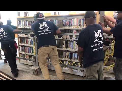 Moving Shelves At South Huntington Public Library