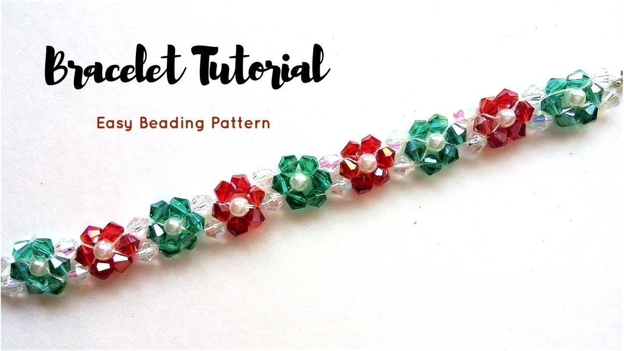 Crystal Beads Bracelet Jewelry Making Tutorial 10 Minutes Diy