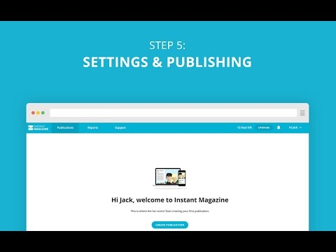 Step 5: Settings & publishing