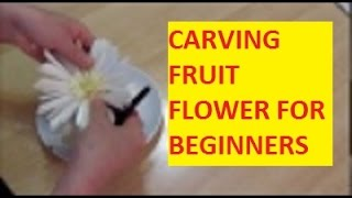 CARVING FRUIT FLOWER FOR BEGINNERS | CARVING GERBERA FLOWER FROOM LEEK